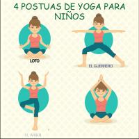 4 Posturas de Yoga para niños