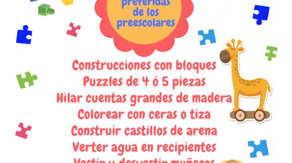 Las actividades preferidas de los preescolares