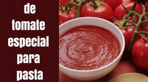 Salsa de tomate especial para pasta